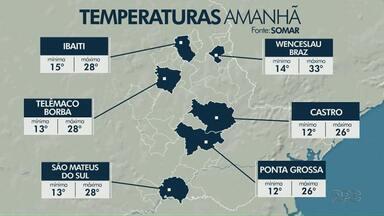 Sol predomina na região dos Campos Gerais neste sábado (16) - Confira a previsão do tempo.