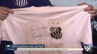 Milésimo gol de Pelé completa 50 anos nesta terça-feira (19) - Data conta com programação especial no Museu das Conquistas do Santos FC.
