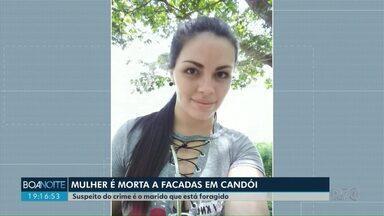 Mulher de 25 anos é morta a golpes de canivete em Candói - O suspeito do crime é o companheiro dela que está foragido.