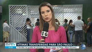 Quatro feridos em queda de jatinho em Marau são transferidos para São Paulo - Vítimas foram encaminhadas para Hospital Albert Einstein, nesta terça-feira (19).