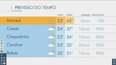 Veja as variações das temperaturas no Maranhão - Confira a previsão do tempo nesta sexta-feira (22) em São Luís e também no interior do estado.