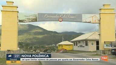 Lei quer limitar o número de pessoas por quarto em Governador Celso Ramos - Lei quer limitar o número de pessoas por quarto em Governador Celso Ramos