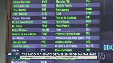 Vereadores de Belo Horizonte cassam mandato de Wellington Magalhães - Da suspeita de seis crimes cometidos pelo parlamentar, a Câmara votou a favor em cinco deles.