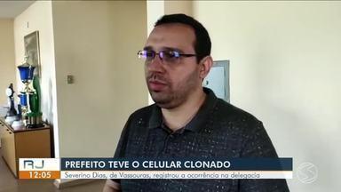 Prefeito de Vassouras procura a polícia para denunciar que teve o celular clonado - Casos vem chamando atenção na região. Especialistas dá dicas de como se prevenir para não cair nesses golpes.