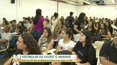 Quase 130 mil candidatos vão fazer a Fuvest neste domingo (24) - A Fuvest é o maior vestibular do país. Os candidatos disputam cerca de oito mil vagas da Universidade de São Paulo.