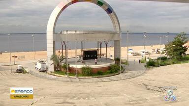 Torcedores do Flamengo podem acompanhar final da Libertadores na Ponta Negra - Um estrutura foi montada no local.