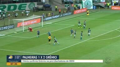Comentarista Diego Guichard fala sobre a vitória do Grêmio em cima do Palmeiras - Tricolor venceu os palmeirenses fora de casa.