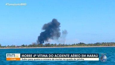 Morre mais uma vítima de acidente aéreo ocorrido em Maraú há 15 dias - Queda do jatinho provocou a morte de quatro pessoas, entre eles um piloto da Stock Car.