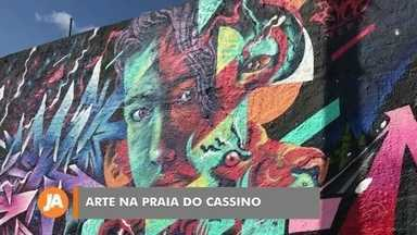 Evento de grafite reúne artistas de vários países em Rio Grande - O Meeting of Styles movimentou a praia do Cassino.