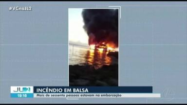 Capitania dos Portos investiga causas de incêndio em balsa no Pará - A embarcação seguia do Amapá para o Amazonas, quando o fogo começou ao passar por Santarém.