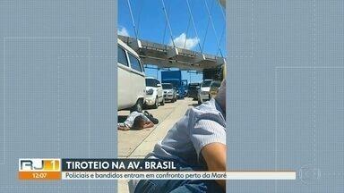 Tiroteio assusta motoristas na Avenida Brasil - Policiais e bandidos entraram em confronto perto da Maré.
