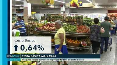 A cesta básica está mais cara em Foz do Iguaçu - Segundo uma pesquisa, o aumento foi de 0,64%.