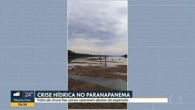 Crise hídrica no rio Paranapanema - Falta de chuva faz usinas operarem abaixo do esperado.