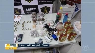Armas, facas e munições são apreendidas na Penitenciária Barreto Cameplo - Revista aconteceu na terça-feira (26).