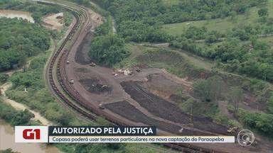 G1 no BDMG: Justiça determina a volta das obras de captação no Rio Paraopeba - A liminar concede à Copasa o uso provisório de terrenos particulares para a construção da estrutura. O Sistema Paraopeba está paralisado desde o rompimento da barragem da Vale, em Brumadinho.