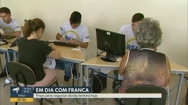 Chega ao fim campanha de renegociação de dívidas com descontos em Franca, SP - Moradores têm até esta quarta-feira (27) para aderir ao programa.