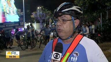 Ciclistas fazem passeio para alertar sobre a importância dos cuidados com a diabetes - Alagoas é um dos estados onde há mais amputação de membros por causa da doença.