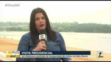 Presidente Jair Bolsonaro inaugura ultima turbina da usina de Belo Monte, no Pará - undefined