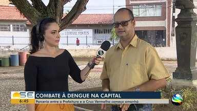 Ação de combate à dengue com a Cruz Vermelha acontece em Aracaju - Ação de combate à dengue com a Cruz Vermelha acontece em Aracaju.