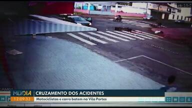 Câmeras de monitoramento flagram mais um acidente em cruzamento da Vila Portes - A rua Di Cavalcanti vai ser transformada em mão única nos próximos dias.