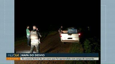 'Mapa do desvio' é encontrado dentro de carro apreendido com carga de camarão - O veículo foi apreendido essa semana no desvio, em São Miguel do Iguaçu.