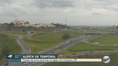Região de Campinas tem previsão de chuva forte nesta quarta-feira (27) - Confira a previsão do tempo para as cidades da região.
