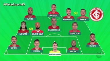 Confira a possível escalação do Inter para o jogo contra o Goiás nesta quarta - Assista ao vídeo.