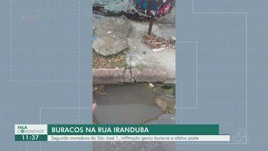 Segundo moradora do São José reclamam de buracos em rua - Segundo moradora do São José reclamam de buracos em rua.