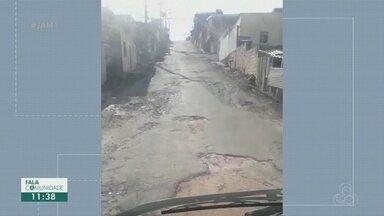 No Conjunto Boas Novas, moradores pedem recapeamento de rua - Há dois anos rua não recebe reparos.