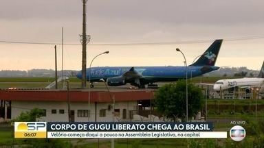 Corpo de Gugu Liberato chega em São Paulo - Corpo de Gugu Liberato chega em São Paulo