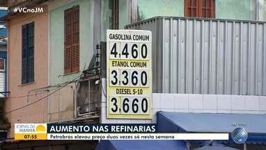 Petrobras aumenta preço da gasolina duas vezes nas refinarias do país somente nesta semana - O aumento é de 4%. Um dos motivos é a alta do dólar.