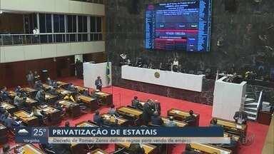 Decreto que define regras para privatização de empresas é discutido na Assembleia - Decreto que define regras para privatização de empresas é discutido na Assembleia