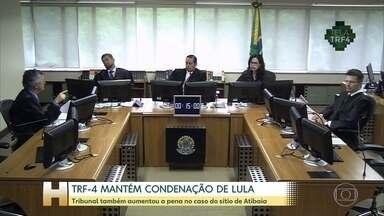 TRF-4 mantém condenação do ex-presidente Lula no caso do sítio de Atibaia - Os desembargadores do Tribunal Federal, em Porto Alegre, também aumentaram em quase 5 anos a pena por corrupção e lavagem de dinheiro. A defesa vai recorrer da sentença.