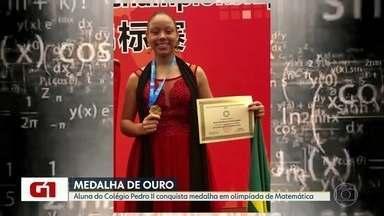 G1 no BDRJ: pela primeira vez, uma menina brasileira vence olimpíada mundial de matemática - Aluna do Colégio Pedro II do Centro, menina ganhou a medalha de ouro em uma das maiores olimpíadas de matemática do mundo, disputada na China.