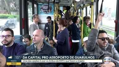 Transporte ao vivo vai da capital para Guarulhos - Uma das opções é o ônibus da EMTU.
