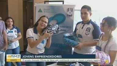 Projeto 'Oficina de Ideias' estimula empreendedorismo entre jovens no Amapá - Alguns jovens criaram empresas.