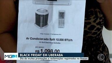 Procon fiscaliza fraudes durante a Black Friday em Uberaba - Fiscais encontraram propaganda enganosa, empresas de alimentação não cumprindo a oferta do aplicativo e até alimentos expostos enquanto chovia.