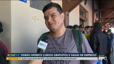 Feira em Ponta Grossa oferece empregos e cursos de qualificação - Ação é parceria da RPC e da Prefeitura da cidade.