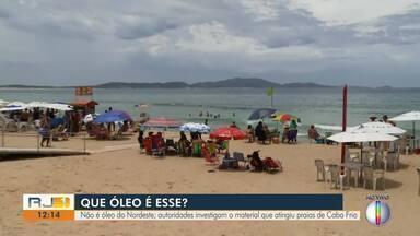 Óleo encontrado em praias de Cabo Frio, RJ, não é o mesmo do Norteste, diz Defesa Civil - Fragmentos foram encontrados na quinta-feira (28).