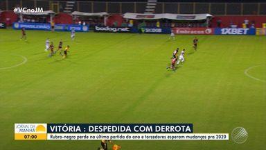 Vitória encerra sequência de jogos da Série B com derrota para o Coritiba - Resultado deixou o clube rubro-negro na 12ª colocação da tabela, no final da competição