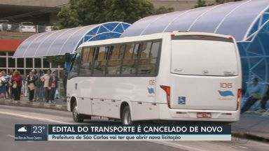 Licitação do transporte de São Carlos é cancelada e terá novo edital neste mês - Nenhuma empresas atendeu exigências do edital, segundo Coca Ferraz.