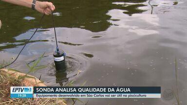 Pesquisadores da Embrapa de São Carlos desenvolvem sonda que analisa qualidade da água - Equipamento será útil na piscicultura para aumentar produção.