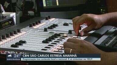 CBN São Carlos estreia nesta terça com conteúdo local e nacional - É só sintonizar na 103,9.