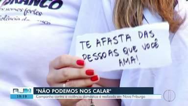 Campanha contra a violência doméstica é realizada em Nova Friburgo - Objetivo é conscientizar a população.