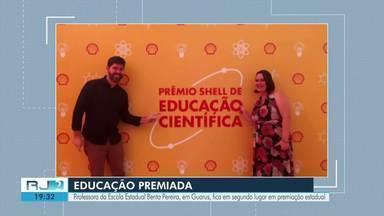 Professora de escola de Campos fica em segundo lugar em premiação no Estado - Rafaella Cruz atua na Escola Estadual Benta Pereira, em Guarus.