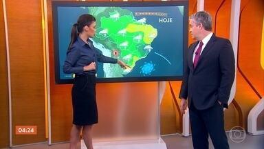 Previsão alerta para chuva forte em Brasília e em Goiás nesta terça-feira - A meteorologia prevê chuva também em Mato Grosso do Sul.