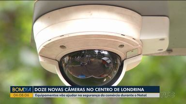 12 câmeras vão ser instaladas no centro de Londrina - Equipamentos vão ajudar na segurança do comércio durante o Natal.