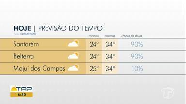 Confira a previsão do tempo para Santarém e região - Saiba qual temperatura esperada para esta terça-feira (3).