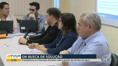 Prefeitura de Santarém e Cosanpa discutem serviço de abastecimento de água - Moradores dos bairros Vitória Régia e Floresta participaram da reunião.