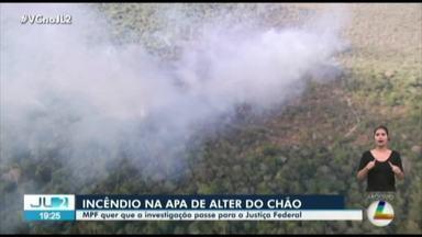 MPF quer que investigações sobre incêndio em Alter do Chão sejam pela Justiça Federal - Um delegado do Pará já foi afastado do caso.